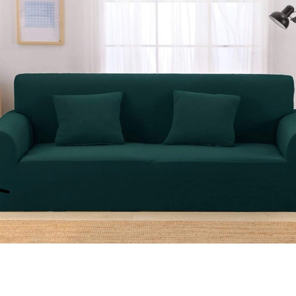 Green extra large sofa slipcover